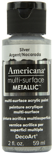 Decoart Multi surface Metallic Silver 59ml