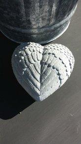 Plastform hjärta änglavingar