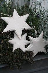 Plastform stjärna,stjärnor 3 stycken